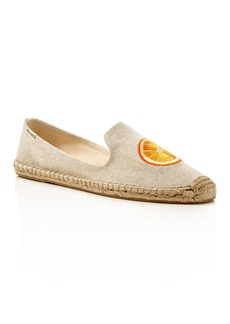 Soludos Orange Slice Smoking Slipper Espadrille Flats