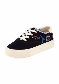 Soludos Paris Velvet Platform Sneakers