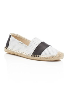 Soludos Perforated Leather Barca Stripe Original Espadrille Flats