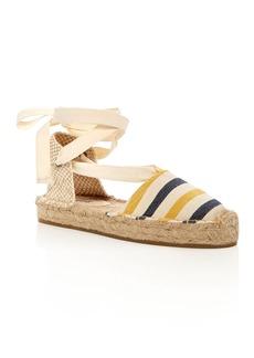 Soludos Striped Gladiator Platform Sandals