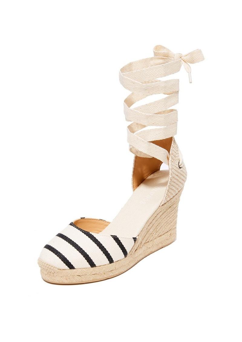 a05eb5773e1 Striped Gladiator Tall Wedge Espadrilles