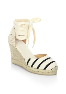 Soludos Striped Gladiator Tall Wedge Sandals
