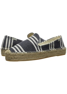 Soludos Striped Platform Smoking Slipper