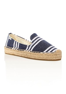 Soludos Striped Smoking Slipper Platform Espadrilles