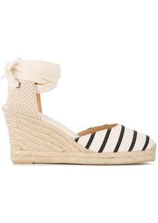 Soludos wedge heel striped espadrilles - Nude & Neutrals