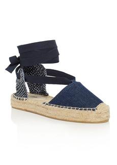 Soludos Women's Denim Gladiator Lace Up Espadrille Platform Sandals