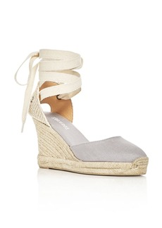 Soludos Women's Lace Up Espadrille Wedge Sandals