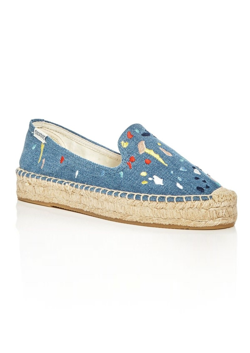 discount amazing price Soludos Denim Espadrille Flats reliable cheap price cheap sale shopping online aco4ZHQ