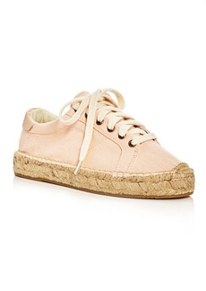 Soludos Women's Tennis Espadrille Platform Lace Up Sneakers
