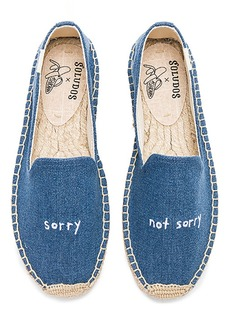 Soludos x Ash Kahn Sorry Platform Smoking Slipper in Blue. - size 10 (also in 6,6.5,7,7.5,8,8.5,9.5)