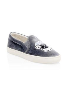 Soludos Velvet Flower Pug Slip-On Sneakers