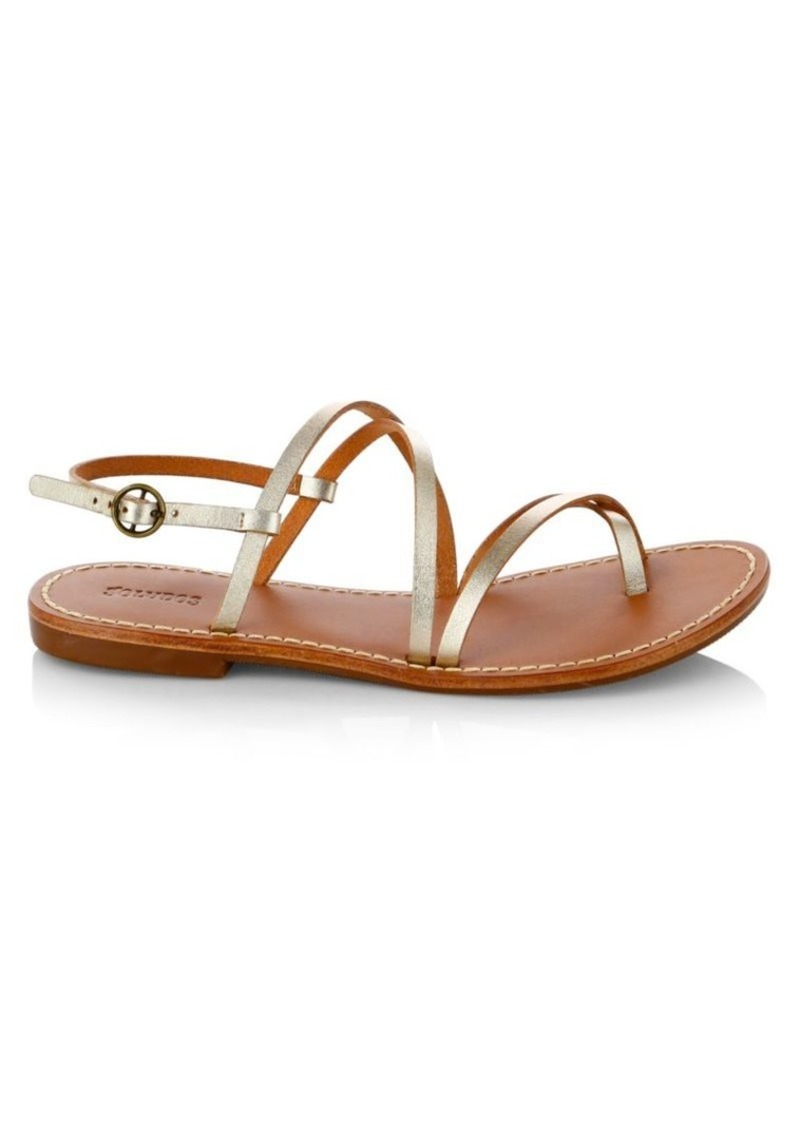 Soludos Zoe Strappy Leather Flat Sandals