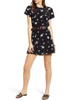 Something Navy Easy Flirty Minidress (Nordstrom Exclusive)