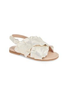 Something Navy Ruffle Sandal (Toddler & Walker) (Nordstrom Exclusive)