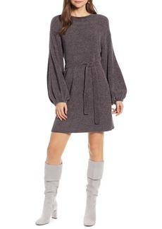 Something Navy Shimmer Sweater Dress (Nordstrom Exclusive)