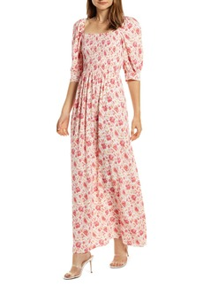 Something Navy Smocked Maxi Dress (Nordstrom Exclusive)