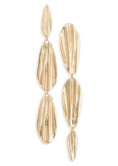 Something Navy Asymmetrical Fluted Linear Earrings (Nordstrom Exclusive)
