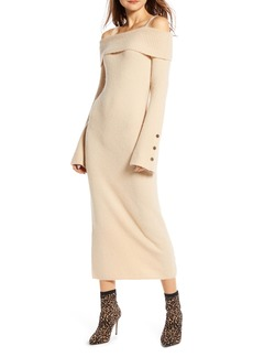 Something Navy Cold Shoulder Sweater Dress (Nordstrom Exclusive)