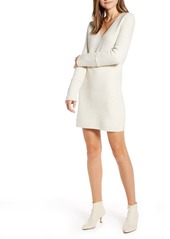 Something Navy Fitted Long Sleeve Tunic Sweater Dress (Nordstrom Exclusive)