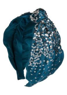 Something Navy Jeweled Silk Headband (Nordstrom Exclusive)
