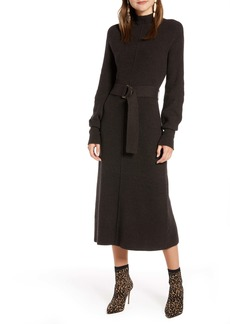 Something Navy Rib Long Sleeve Sweater Dress (Nordstrom Exclusive)