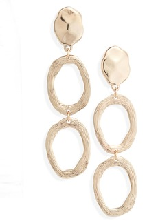 Something Navy Scored Circle Drop Earrings (Nordstrom Exclusive)