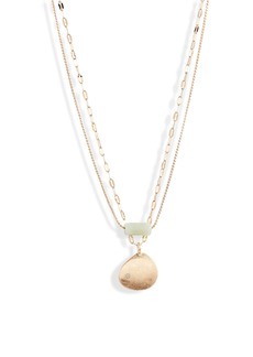 Something Navy Sea Glass & Shell Layered Necklace (Nordstrom Exclusive)