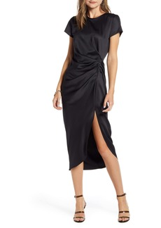 Something Navy Shiney Draped Dress (Nordstrom Exclusive)