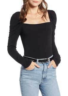 Something Navy Square Neck Slim Knit Top (Nordstrom Exclusive)