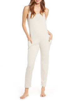 Something Navy Strappy Cotton Jumpsuit (Nordstrom Exclusive)