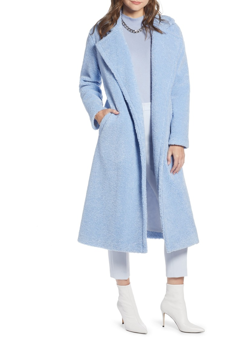 Something Navy Teddy Faux Fur Coat (Nordstrom Exclusive)