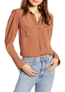 Something Navy Utility Blouse (Nordstrom Exclusive)