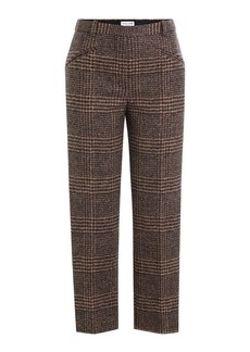 Sonia Rykiel Alpaca-Wool Glen Plaid Pants