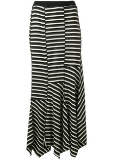 Sonia Rykiel asymmetric striped skirt