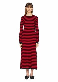 Sonia Rykiel Cashmere Ziggy Stripe Long Sleeve Dress