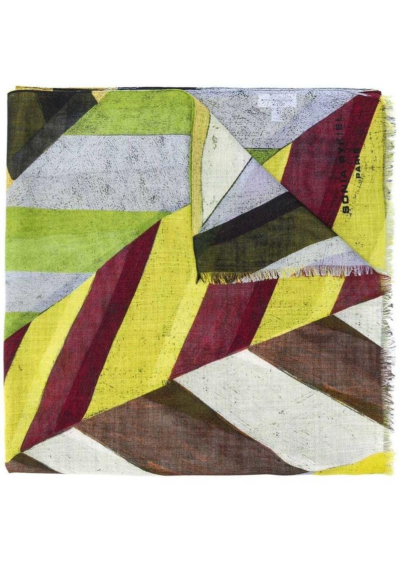 Sonia Rykiel colour-block striped scarf
