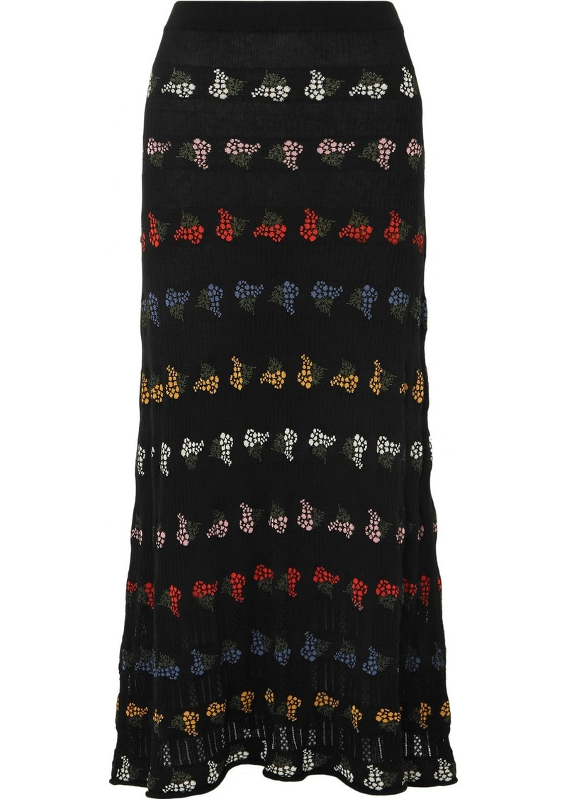Sonia Rykiel Cotton-blend Jacquard Midi Skirt