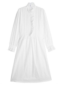 Sonia Rykiel Cotton Voile Dress with Ruffle Trims