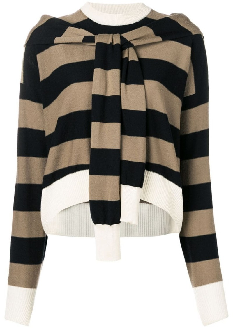 Sonia Rykiel cropped striped jumper