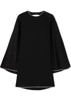 Sonia Rykiel Crystal-embellished Open-back Satin Mini Dress