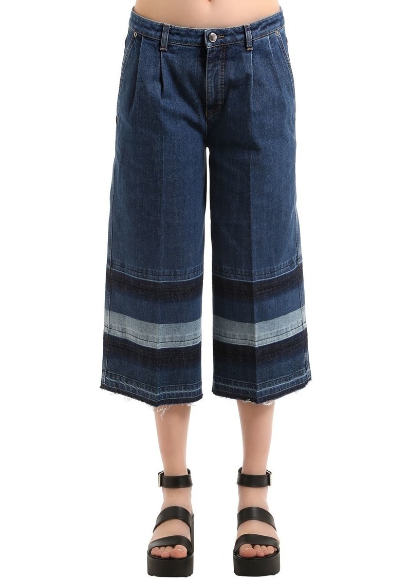 Sonia Rykiel Denim Jeans With Striped Released Hem