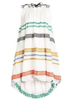 Sonia Rykiel Embroidered Dress with Cotton and Linen