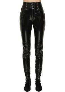 Sonia Rykiel Faux Patent Leather Pants