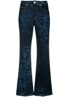 Sonia Rykiel flared leopard print jeans