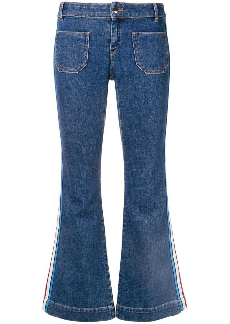 Sonia Rykiel flared side stripe jeans