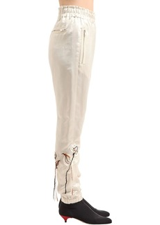 Sonia Rykiel Floral Embroidered Satin Pants