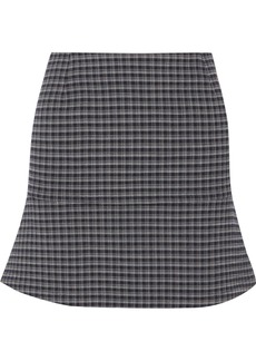 Sonia Rykiel Fluted Checked Crepe Mini Skirt