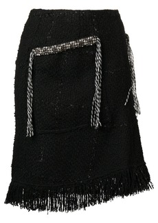 Sonia Rykiel fringe tweed skirt