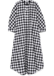 Sonia Rykiel Gingham Cotton-poplin Midi Dress