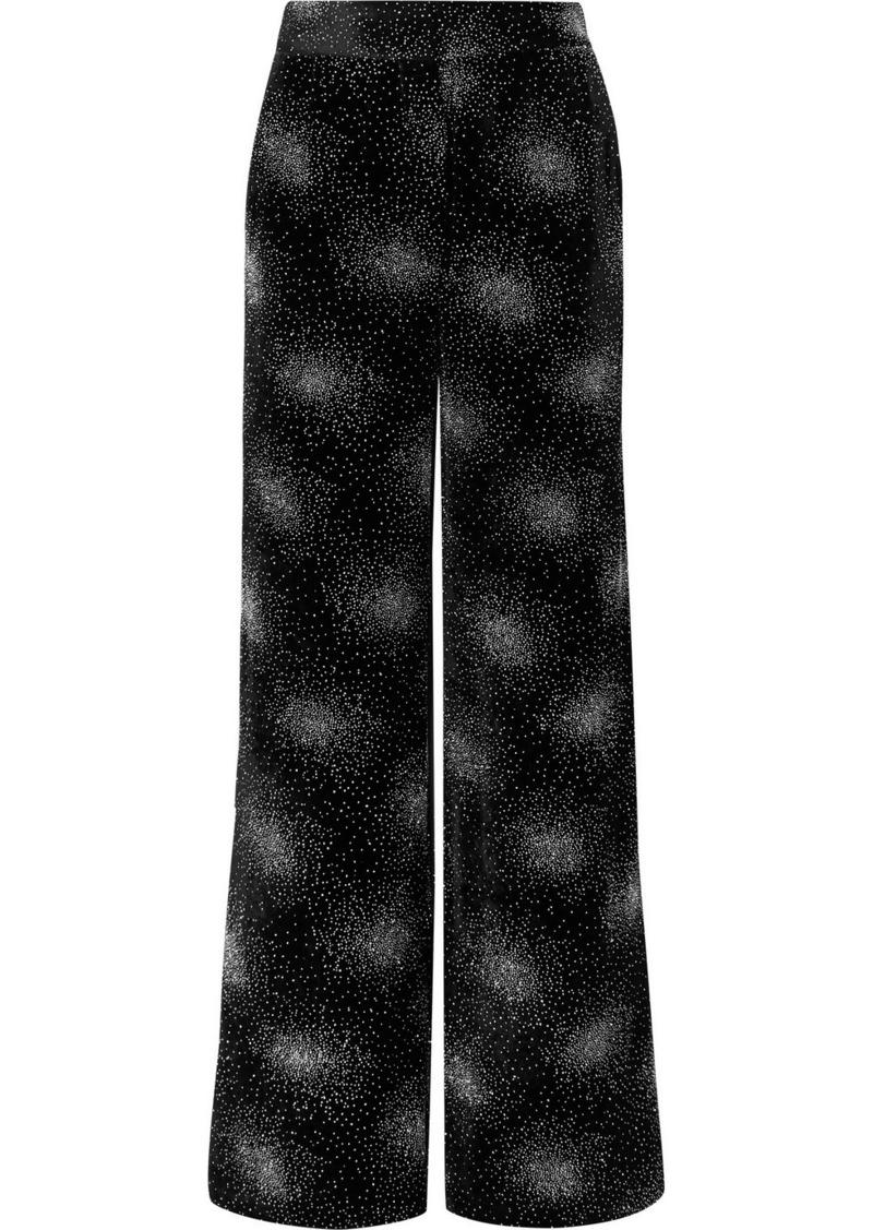 Sonia Rykiel Glittered Velvet Wide-leg Pants